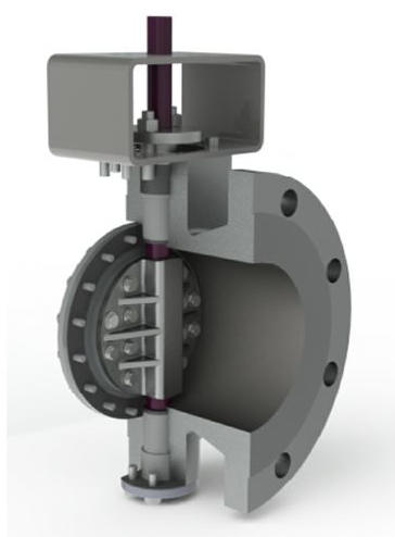 Bolted shaft butterfly valve